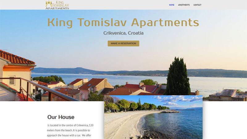 Internet stranice King Tomislav Apartmana