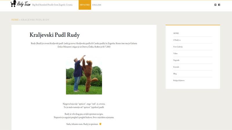 Internet stranica Rudy Poodle